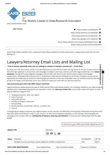 Attorney Email lists