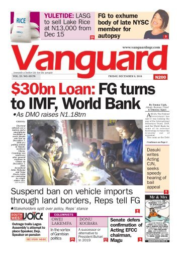 bn Loan: FG turns to IMF, World Bank