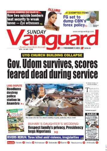 Gov. Udom survives, scores feared dead during service