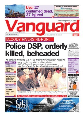 Bloody Rivers Re-run: Police DSP, orderly killed, beheaded
