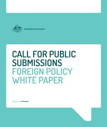 SUBMISSIONS FOREIGN POLICY WHITE PAPER