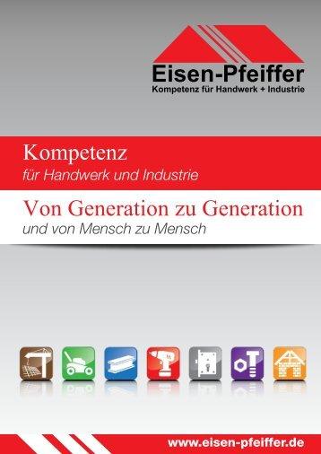 Imagebroschüre der Carl Pfeiffer GmbH & Co. KG aus dem Jahr 2016