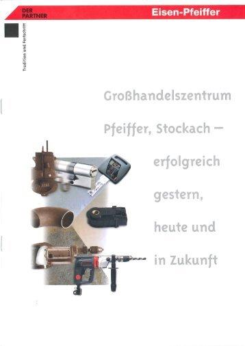 Imagebroschüre der Carl Pfeiffer GmbH & Co. KG aus dem Jahr 1994