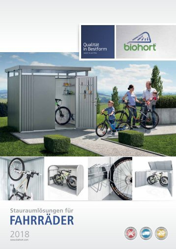 Biohort Fahrrad Stauraumlösungen