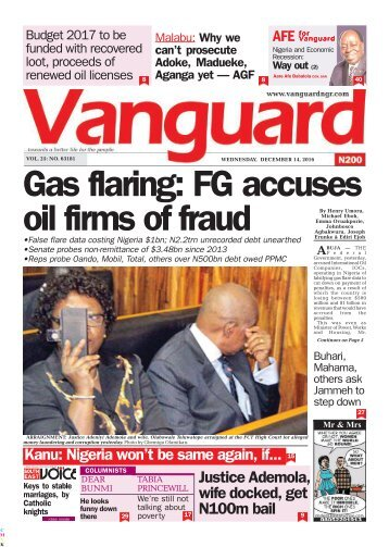Gas flaring: FG accuses oil firm of fraud