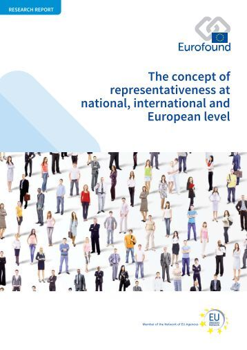 The concept of representativeness at national international and European level