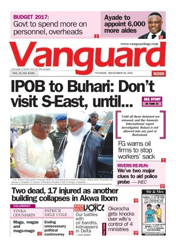IPOB to Buhari: Don't visit S-East, until...