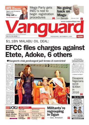 .1BN MALABU OIL DEAL: EFCC files charges against Etete, Adoke, 6 others