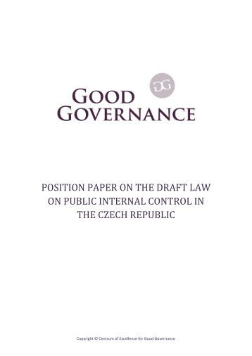 POSITION PAPER ON THE DRAFT LAW ON PUBLIC INTERNAL CONTROL IN THE CZECH REPUBLIC