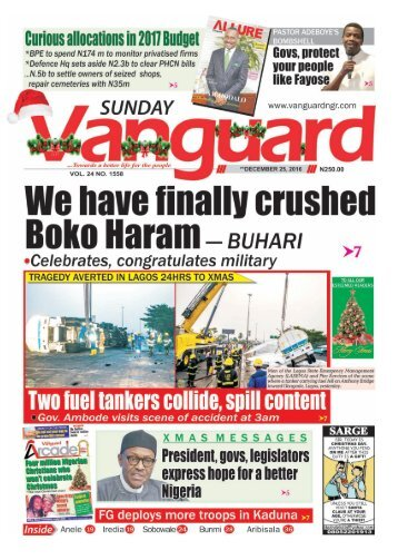 We have finally crushed Boko Haram - Buhari