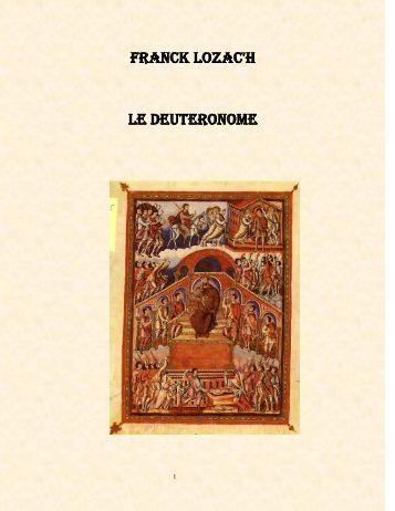 Le Deutéronome La Bible