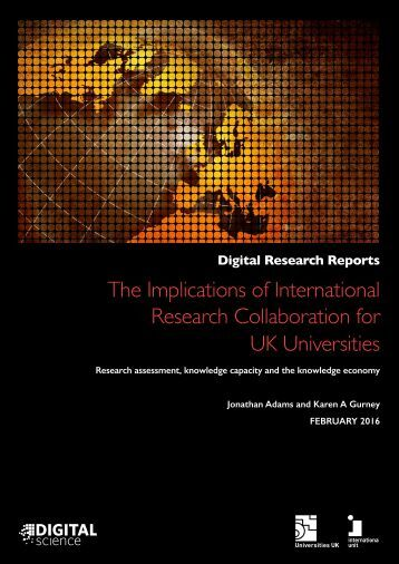 The Implications of International Research Collaboration for UK Universities
