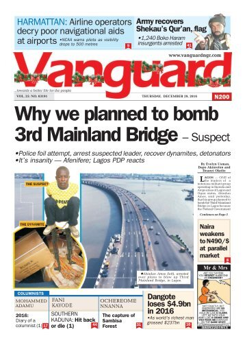 Why we planned to bomb 3rd Mainland Bridge – Suspect