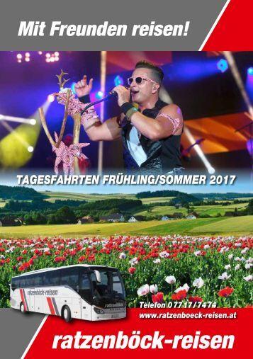 Ratzenboeck Tagesfahrten Frühjahr 2017