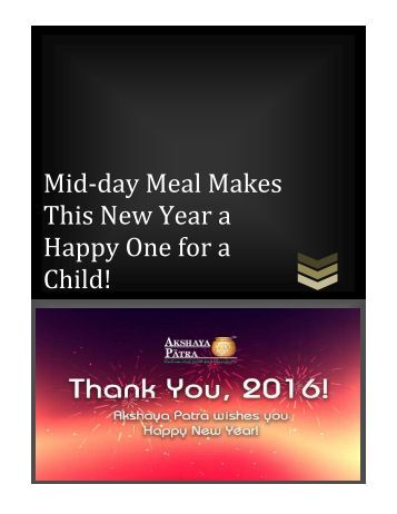 Mid-day Meal Makes This New Year a Happy One for a Child!