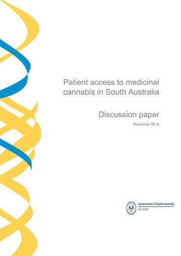 Patient access to medicinal cannabis in South Australia Discussion paper