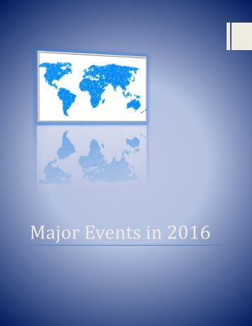 Major Events in 2016