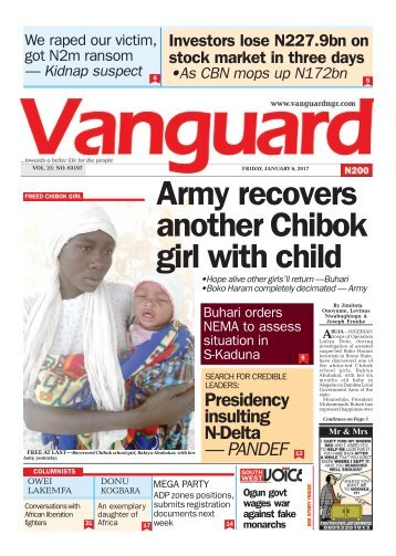 06012017 - Army recovers another Chibok girl with child