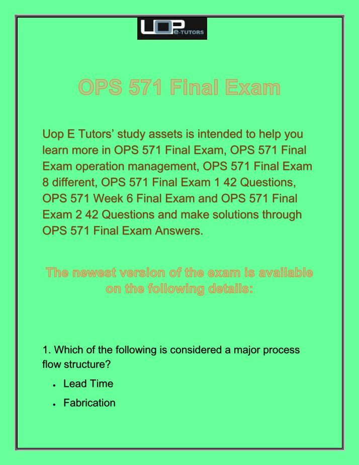 mgmt 571 final exam