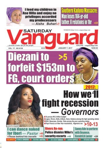 07012017 - Diezani to forfeit 3m to FG, court orders