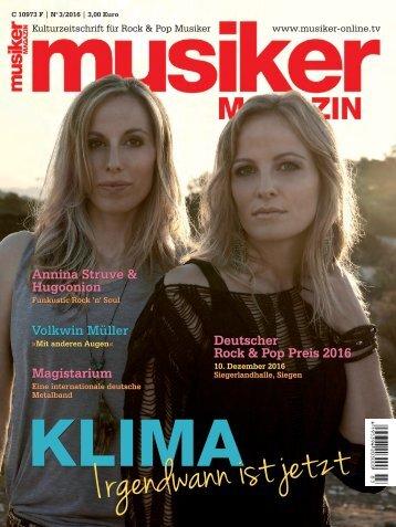 Musiker Magazin 03/2016