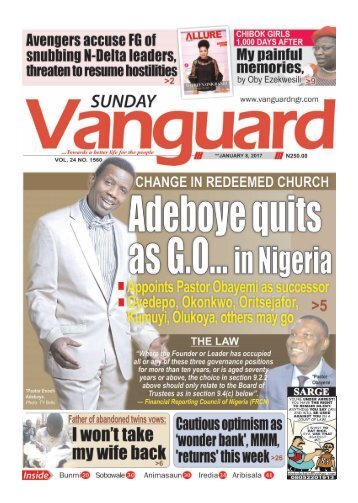 08012017 - Adeboye quits as G.O... in Nigeria