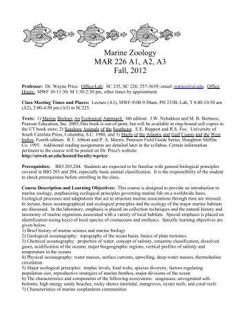 Course Syllabus - Utweb.ut.edu - The University of Tampa