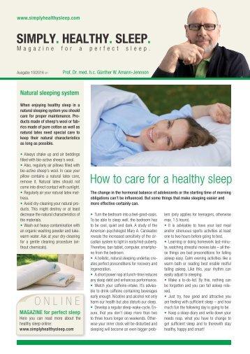 Simply. Healthy. Sleep.