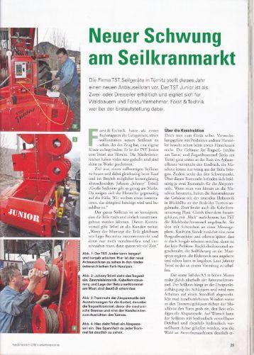 Bericht TST Junior im Forst&Technik Magazin