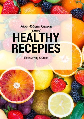 Healthy recipes cook book