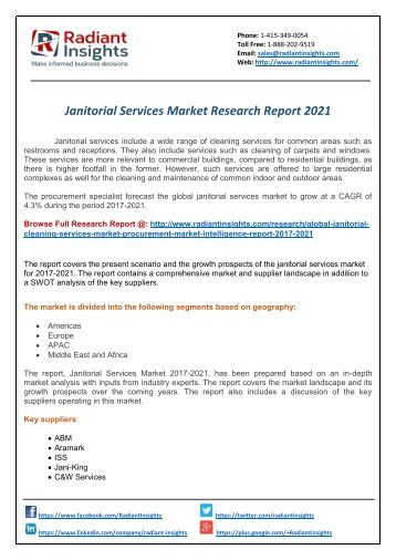 Janitorial Services Research Report