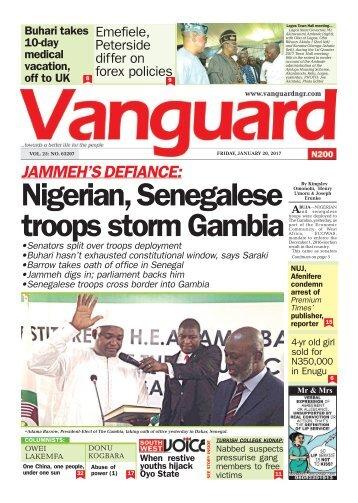 20012017 - JAMMEH's DEFIANCE: Nigerian, Senegalese troops storm Gambia