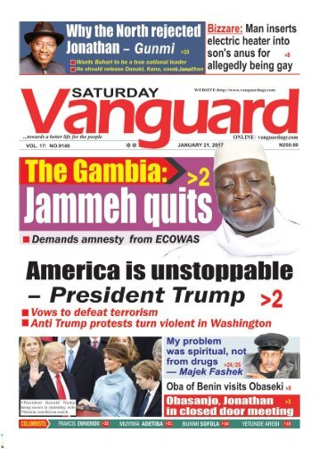21012017 - The Gambia Jammehn quits, demands amnesty from ecowas