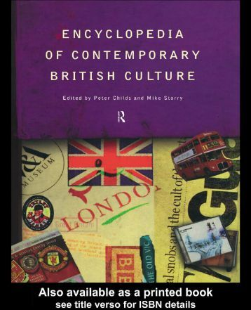 modern english culture Prospective applicants interested in the study of british literatures and cultures should follow old english is regularly taught marxism and modern culture.
