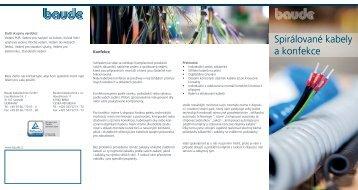 Spirálované kabely a konfekce