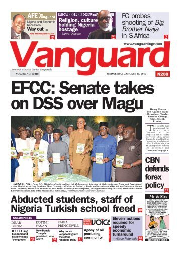 25012017 EFCC: Senate takes on DSS over Magu