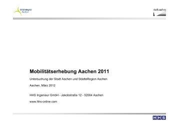 Mobilitätserhebung 2011
