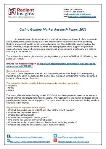 Casino Gaming Market Research Report