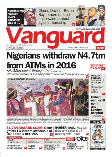 27012017 - Nigerians withdraw N4.7trn from ATMs in 2016