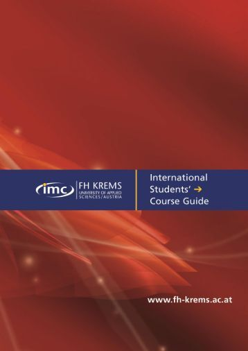 EXPORT-ORIENTED MANAGEMENT - IMC Fachhochschule Krems