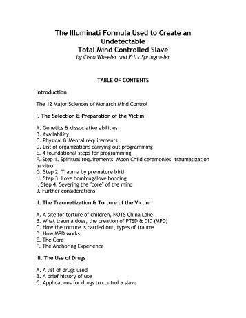 the illuminati formula used to create pdf