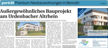 Premium-Neubauwohnungen in Benrath