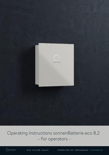 sonnen Eco 8.2 User Manual EN
