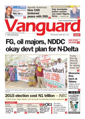 01022017 - FG, oil majors, NDDC okay devt plan for N-Delta
