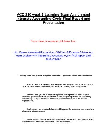 accounting cycle assignment