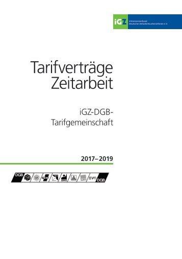 iGZ-DGB-Tarifwerk 2017-2019