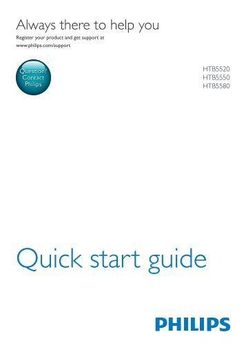Philips Home Cinéma Blu-ray 3D 5 enceintes - Guide de mise en route - ITA