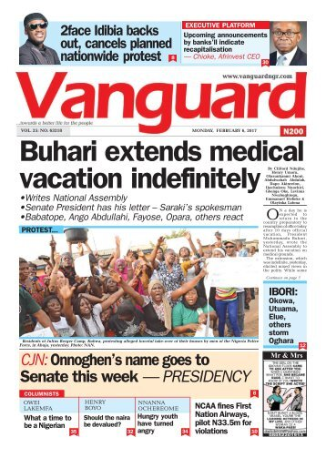 06022017 - Buhari extends medical vacation indefinitely