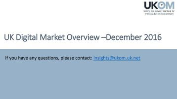 UK Digital Market Overview –December 2016