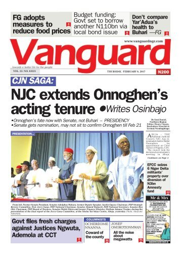 09022017 CJN SAGA:NJC extends Onnoghen's acting tenureWrites Osinbajo